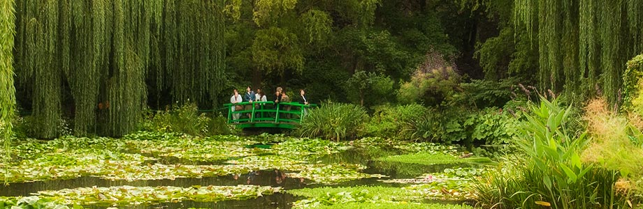 Monet's Lily Garden at Giverny in France