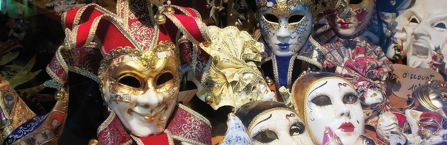 Carnival Masks in San Polo, Venice, Italy